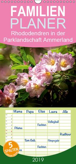 Rhododendren in der Parklandschaft Ammerland – Familienplaner hoch (Wandkalender 2019 , 21 cm x 45 cm, hoch) von N.,  N.
