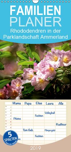 Rhododendren in der Parklandschaft Ammerland / Geburtstagskalender – Familienplaner hoch (Wandkalender 2019 , 21 cm x 45 cm, hoch) von Roder,  Peter