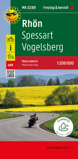 Rhön – Spessart – Vogelsberg, Motorradkarte 1:200.000, freytag & berndt