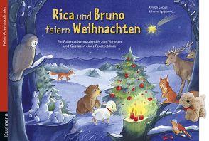 Rica und Bruno feiern Weihnachten. Ein Folien-Adventskalender zum Vorlesen und Gestalten eines Fensterbildes Mit Stoffschaf von Ignjatovic,  Johanna, Lückel,  Kristin