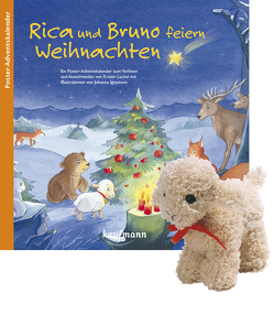 Rica und Bruno feiern Weihnachten mit Stoffschaf von Ignjatovic,  Johanna, Lückel,  Kristin