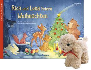 Rica und Luna feiern Weihnachten mit Stoffschaf von Ignjatovic,  Johanna, Kamlah,  Klara