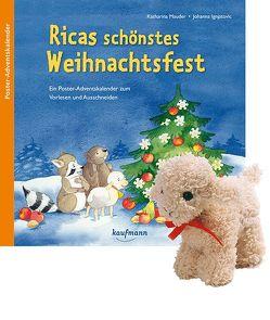 Ricas schönstes Weihnachtsfest mit Stoffschaf. Ein Poster-Adventskalender zum Vorlesen und Ausschneiden von Ignjatovic,  Johanna, Mauder,  Katharina