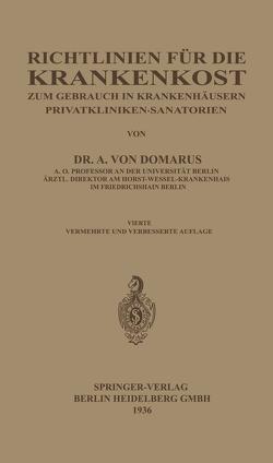 Richtlinien für die Krankenkost von von Domarus,  Alexander