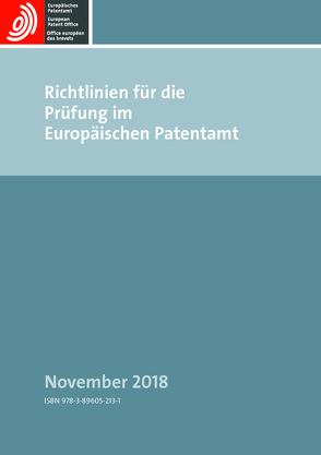 Richtlinien für die Prüfung im Europäischen Patentamt