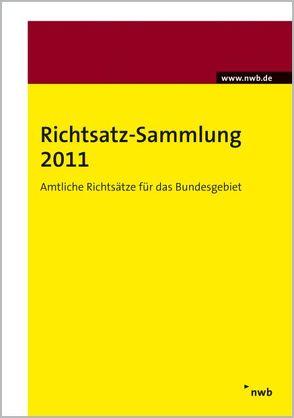 Richtsatz-Sammlung 2011 von Bundesministerium der Finanzen