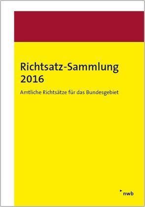 Richtsatz-Sammlung 2016 von Bundesministerium der Finanzen