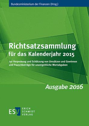 Richtsatzsammlung für das Kalenderjahr 2015
