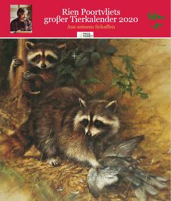 Rien Poortvliet großer Tierkalender 2020