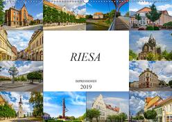 Riesa Impressionen (Wandkalender 2019 DIN A2 quer) von Meutzner,  Dirk
