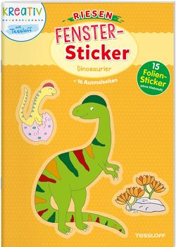 Riesen- Fenster-Sticker. Dinosaurier von Beurenmeister,  Corina, Schmidt,  Sandra, Tessloff Verlag