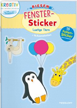 Riesen-Fenster-Sticker. Lustige Tiere von Beurenmeister,  Corina, Schmidt,  Sandra, Tessloff Verlag
