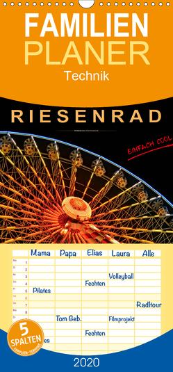 Riesenrad – einfach cool – Familienplaner hoch (Wandkalender 2020 , 21 cm x 45 cm, hoch) von Roder,  Peter