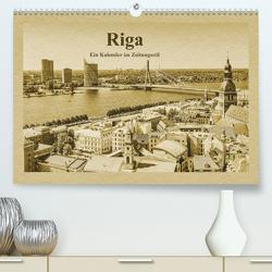 Riga – Ein Kalender im Zeitungsstil (Premium, hochwertiger DIN A2 Wandkalender 2021, Kunstdruck in Hochglanz) von Kirsch,  Gunter