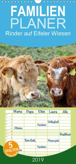 Rinder auf Eifeler Wiesen – Familienplaner hoch (Wandkalender 2019 , 21 cm x 45 cm, hoch) von Glineur,  Jean-Louis