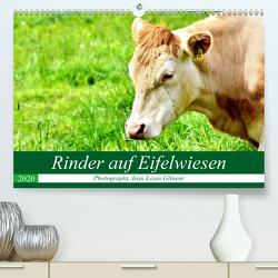 Rinder auf Eifelwiesen (Premium, hochwertiger DIN A2 Wandkalender 2020, Kunstdruck in Hochglanz) von Glineur,  Jean-Louis