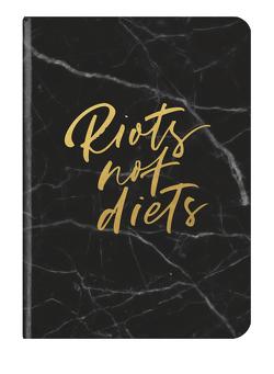 RIOTS NOT DIETS 14,8×21 cm – Booklet – 48 Seiten, Punktraster und blanko – Softcover – gebunden
