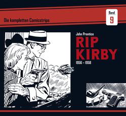 Rip Kirby: Die kompletten Comicstrips / Band 9 1956 – 1958 von Dickenson,  Fred, Prentice,  John, Schulz,  Mik