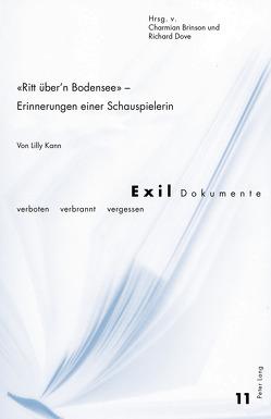 «Ritt über'n Bodensee» – Erinnerungen einer Schauspielerin von Brinson,  Charmian, Dove,  Richard