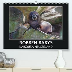 Robben Babys – Kaikoura Neuseeland (Premium, hochwertiger DIN A2 Wandkalender 2021, Kunstdruck in Hochglanz) von Bort,  Gundis