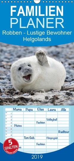 Robben – Lustige Bewohner Helgolands – Familienplaner hoch (Wandkalender 2019 , 21 cm x 45 cm, hoch) von Orth,  Egid