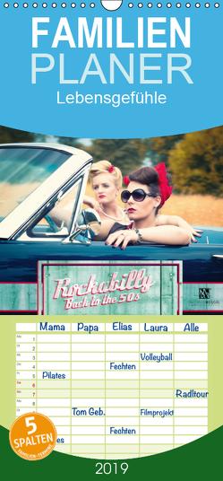 Rockabilly – Back to the 50s – Familienplaner hoch (Wandkalender 2019 , 21 cm x 45 cm, hoch) von Weggel,  Matthias