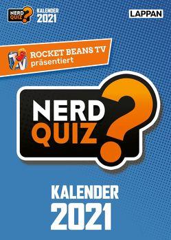 Rocket Beans TV – Nerd Quiz-Kalender 2021 mit Fragen rund um Games, Filme und Popkultur von Kartsios,  Gregor, Rocket Beans Entertainment GmbH
