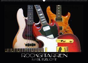 Rockgitarren im Blitzlicht (Wandkalender 2018 DIN A2 quer) von Bleicher,  Renate