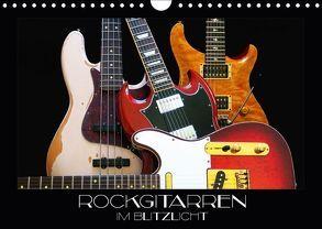 Rockgitarren im Blitzlicht (Wandkalender 2018 DIN A4 quer) von Bleicher,  Renate