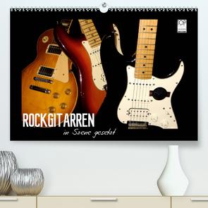 ROCKGITARREN in Szene gesetzt (Premium, hochwertiger DIN A2 Wandkalender 2020, Kunstdruck in Hochglanz) von Bleicher,  Renate