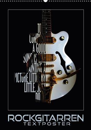 Rockgitarren Textposter (Wandkalender 2018 DIN A2 hoch) von Bleicher,  Renate