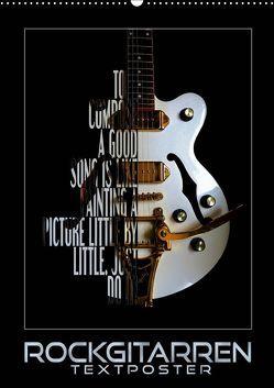 Rockgitarren Textposter (Wandkalender 2019 DIN A2 hoch) von Bleicher,  Renate