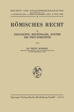 Römisches Recht von Schwind,  Freiherr Fritz von