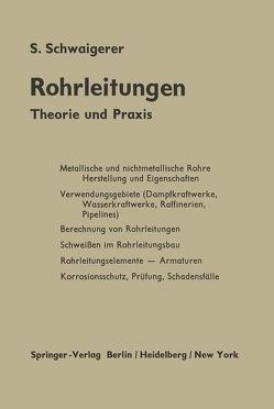 Rohrleitungen von Schwaigerer,  Siegfried