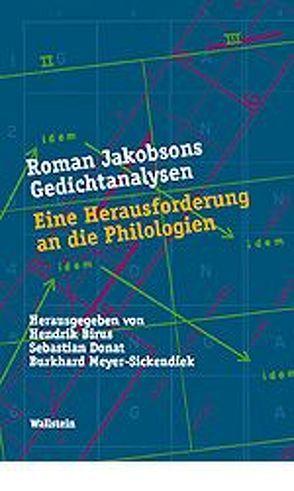 Roman Jakobsons Gedichtanalysen von Birus,  Hendrik, Donat,  Sebastian, Meyer-Sickendiek,  Burkhard