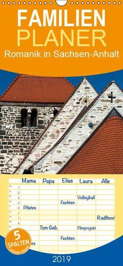 Romanik in Sachsen-Anhalt – Familienplaner hoch (Wandkalender 2019 , 21 cm x 45 cm, hoch) von Schrader,  Ulrich