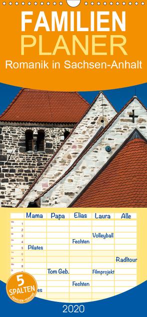 Romanik in Sachsen-Anhalt – Familienplaner hoch (Wandkalender 2020 , 21 cm x 45 cm, hoch) von Schrader,  Ulrich