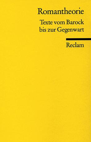 Romantheorie von Steinecke,  Hartmut, Wahrenburg,  Fritz