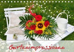 Romantische Gartenimpressionen (Tischkalender 2019 DIN A5 quer) von Werner-Ney,  Simone