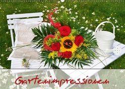 Romantische Gartenimpressionen (Wandkalender 2018 DIN A2 quer) von Werner-Ney,  Simone