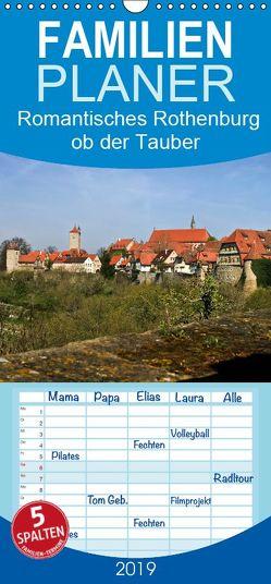 Romantisches Rothenburg ob der Tauber – Familienplaner hoch (Wandkalender 2019 , 21 cm x 45 cm, hoch) von boeTtchEr,  U