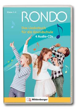 Rondo. Musiklehrgang für die Grundschule – Neubearbeitung / RONDO – Das Liederbuch für die Grundschule – 4 Audio CDs von Crämer,  Christian, Junge,  Wolfgang
