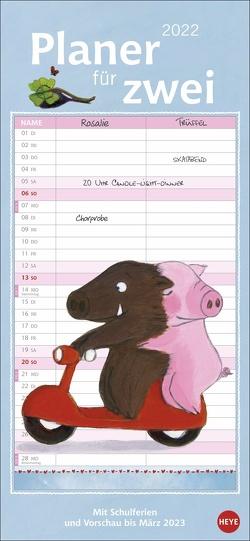 Rosalie & Trüffel Planer für zwei Kalender 2022 von Bücker,  Jutta, Heye, Reider,  Katja