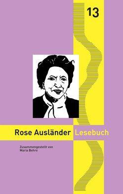 Rose Ausländer Lesebuch von Behre,  Maria, Goedden,  Walter, Stahl,  Enno