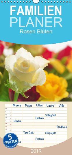 Rosen Blüten Terminkalender – Familienplaner hoch (Wandkalender 2019 , 21 cm x 45 cm, hoch) von Riedel,  Tanja
