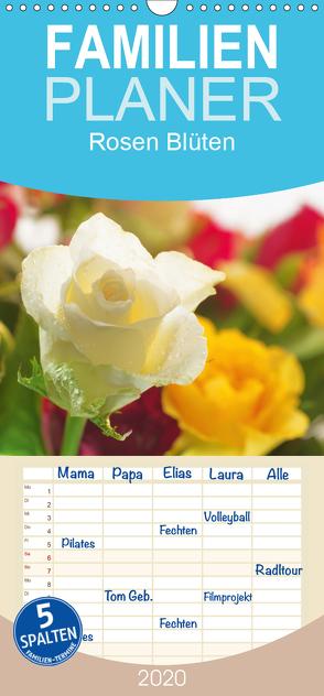 Rosen Blüten Terminkalender – Familienplaner hoch (Wandkalender 2020 , 21 cm x 45 cm, hoch) von Riedel,  Tanja