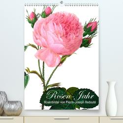 Rosen-Jahr (Premium, hochwertiger DIN A2 Wandkalender 2021, Kunstdruck in Hochglanz) von bilwissedition.com Layout: Babette Reek,  Bilder: