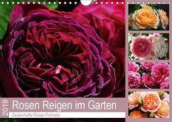 Rosen Reigen im Garten (Wandkalender 2019 DIN A4 quer) von Cross,  Martina