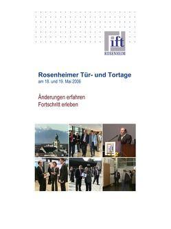 Rosenheimer Tür- und Tortage 2006 – Tagungsinhalte mit Vortragsfolien auf CD-ROM von ift Rosenheim GmbH