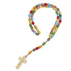 Holz-Rosenkranz »Gott segne dich«